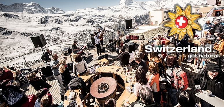 Dancing on the ski slopes in Switzerland